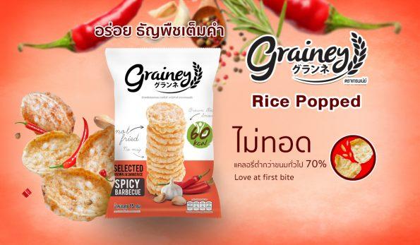 Grainey BBQnone fried snack low calories snack multi grain snack diet snack